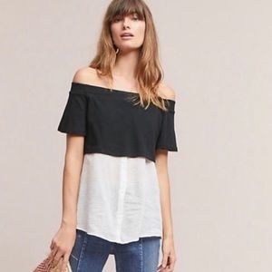 Anthropologie Layered Off-The-Shoulder Tunic
